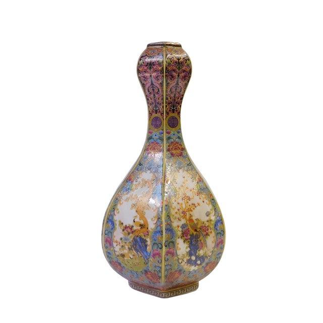 Floral Hexagon Porcelain Vase - Image 2 of 7