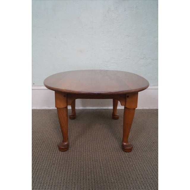 Stickley Solid Cherry Queen Anne Coffee Table - Image 3 of 10