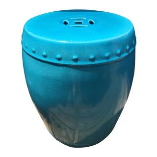 "Vintage Aqua Chinese Garden Seat-17"""