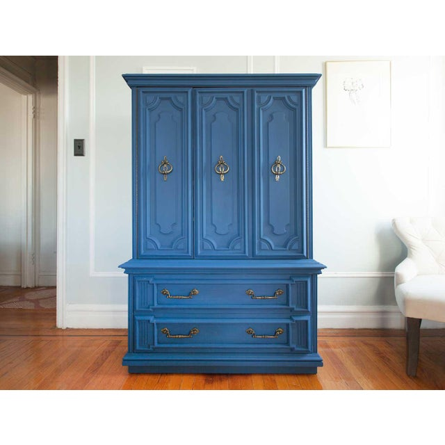 Vintage Blue Lucille Armoire - Image 2 of 7
