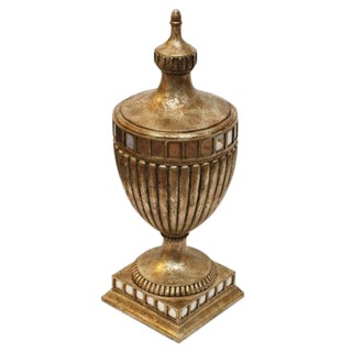 French-Style Wood Lidded Urn
