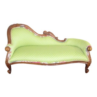 Custom Made & Upholstered in Lime Green Chaise Dog Bed