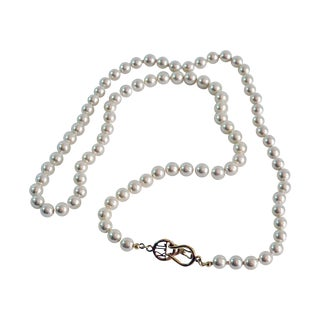 Kenneth Jay Lane Faux Golden Pearl Necklace
