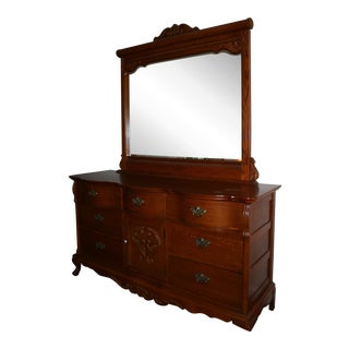 French Country Provincial Style Chest & Mirror