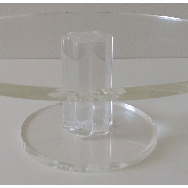 Image of Vintage Lucite Round Footed Cake Stand