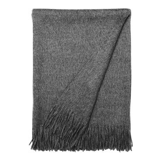 100% Baby Alpaca Luxury Throw -Grey
