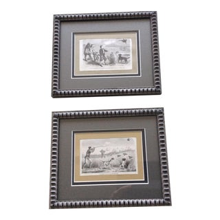 Antique French Hunting Prints - A Pair