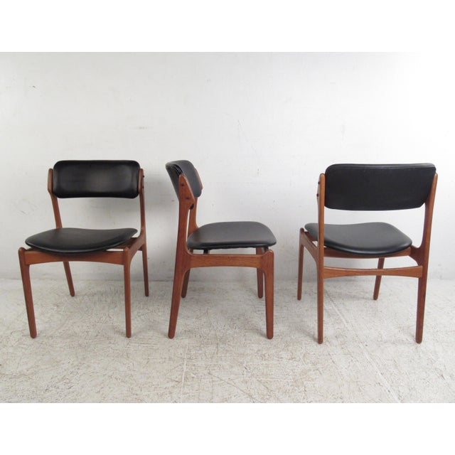 Vintage Erik Buch Scandinavian Modern Dining Chairs - Set of 6 - Image 3 of 11