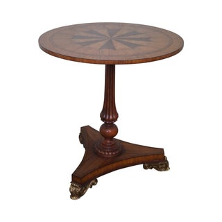 Maitland Smith Inlaid Top Regency Style Table