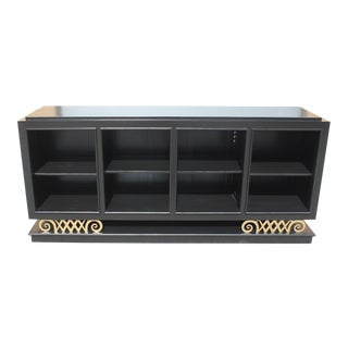 Classic French Art Deco Ebonized '' Harlequin Leg ''Sideboard / Buffet Circa 1940s