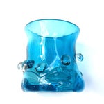 Image of Turquoise Blue Abstract Sculptural Vase