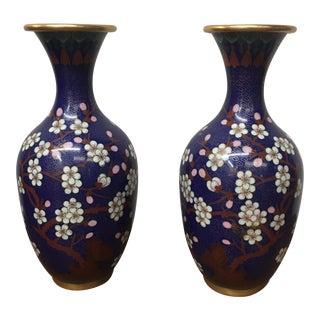 Cloisonné Vintage Vases - A Pair