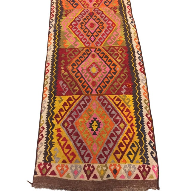 Vintage Kilim Runner - 2′5″ × 12′4″ - Image 4 of 5