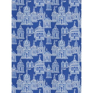 "Dana Gibson for Stroheim Cobalt ""Occidental"" Fabric - 3 Yards"