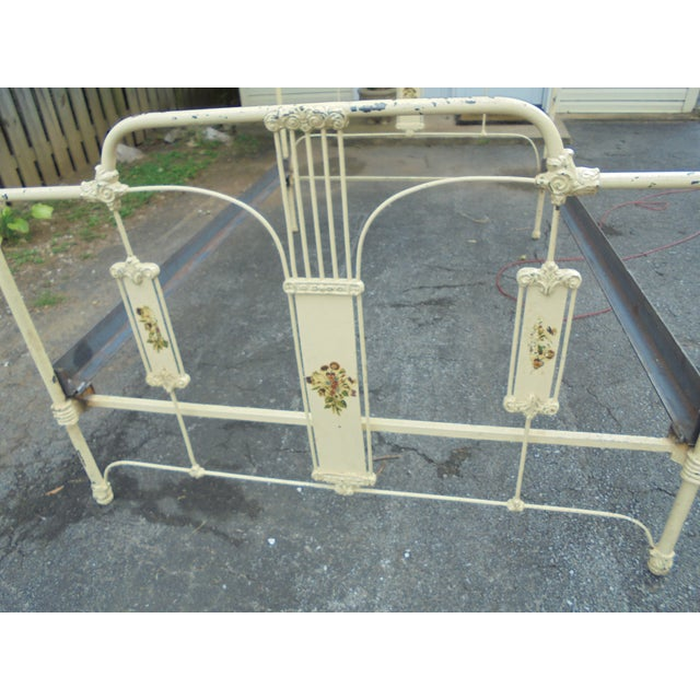 Antique Iron Full Bed - Image 4 of 12