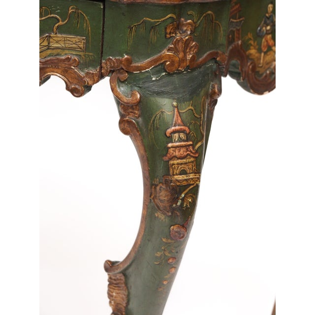 Chinoiserie Decorated Console Table with a Drawer - Image 10 of 11