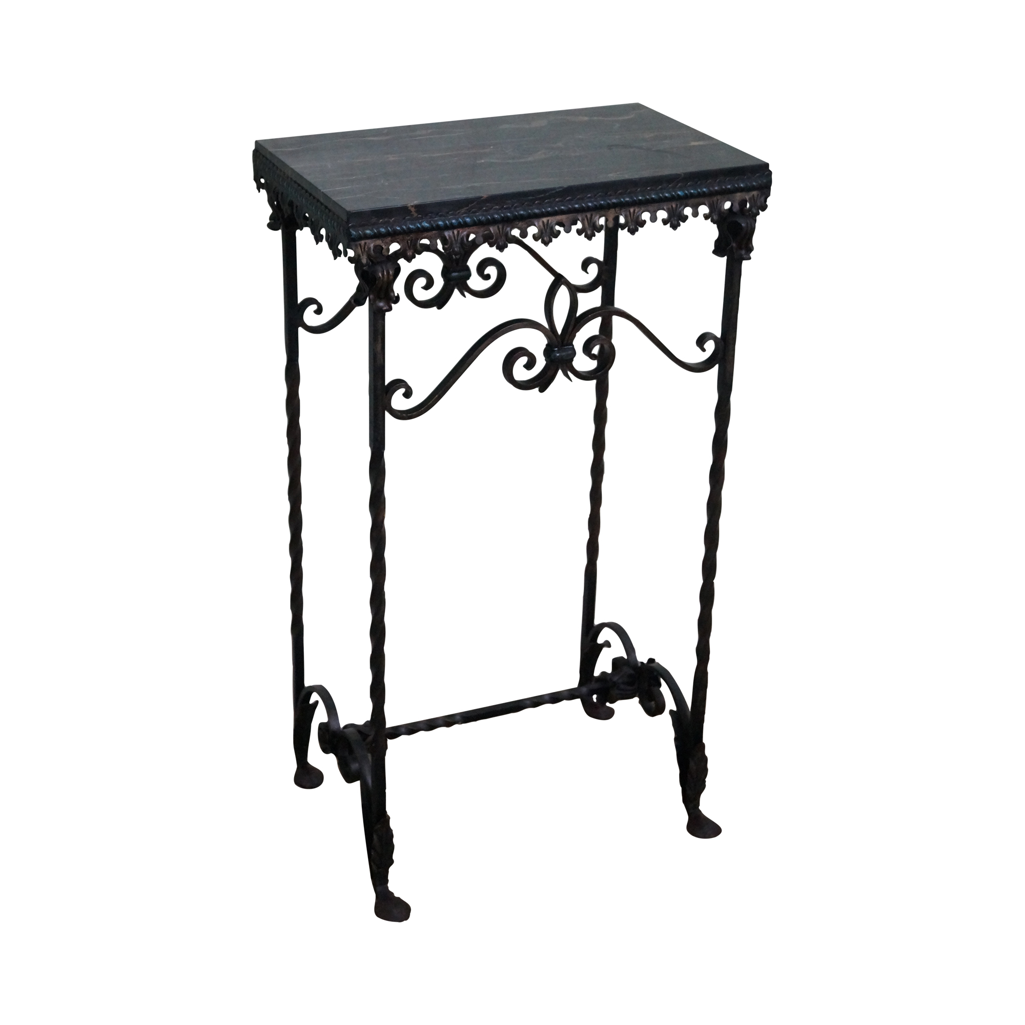 vintage metal console table antique wrought iron marble console table chairish 6847