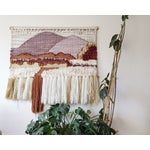 Image of Mid-Century Fiber Tapestry Wall Hanging
