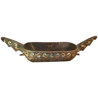 Filipino Carved & Painted Very Large Food Bowl
