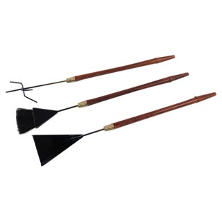 1950 Modern Fireplace Tool Set with Long Handles