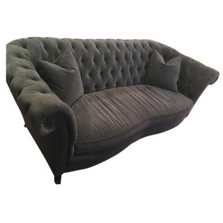 Horchow Tufted Velvet Sofa