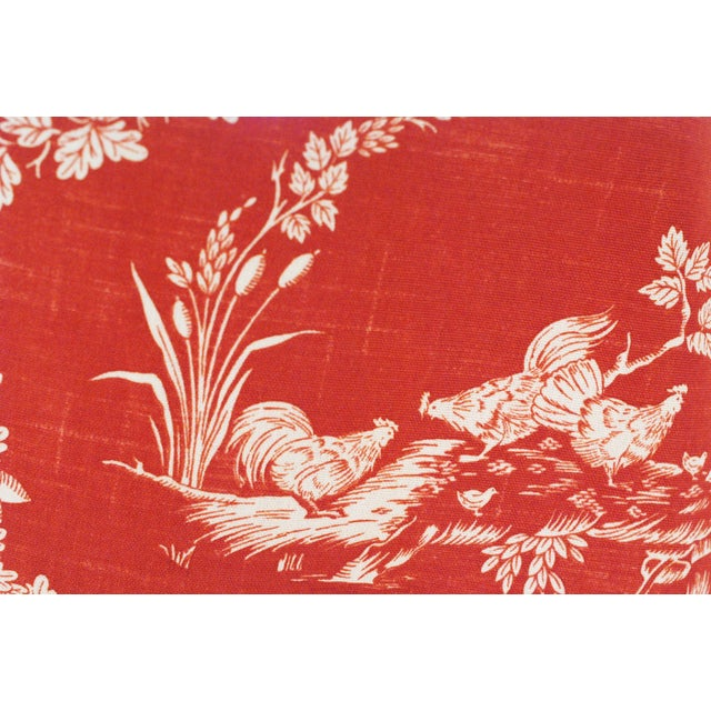 Pierre Deux Red Toile Linen Fabric- 10 Yards - Image 3 of 6