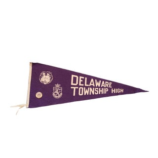 Delaware Township High NJ Lions with Pin Felt Flag