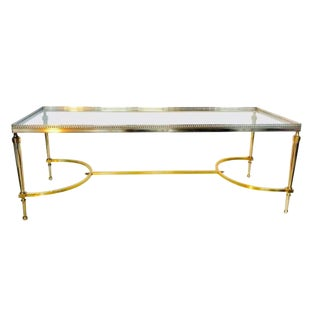 Mid-Century Maison Jansen style Glass top Coffee Table