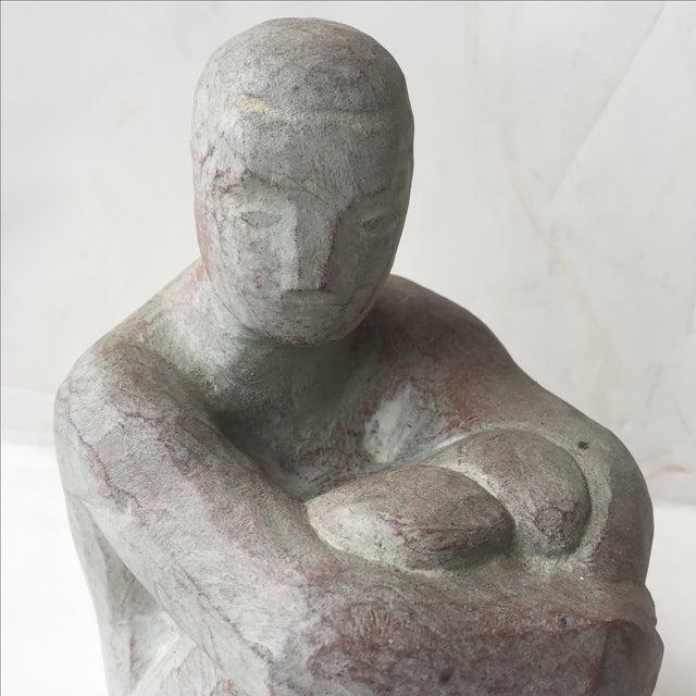 Image of Men Seated Terra Cotta Sculpture