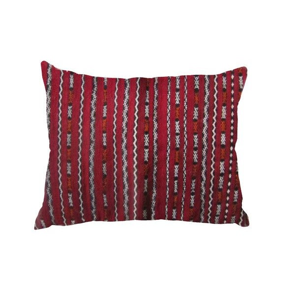 Image of Berber Pillow with Orange Sequins