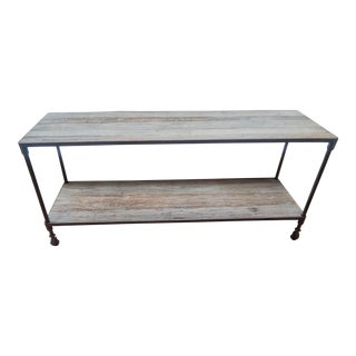 Restoration Hardware Dutch Industrial Console Table