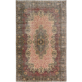 "Vintage Turkish Overdyed Rug - 6'6"" x 10'6"""