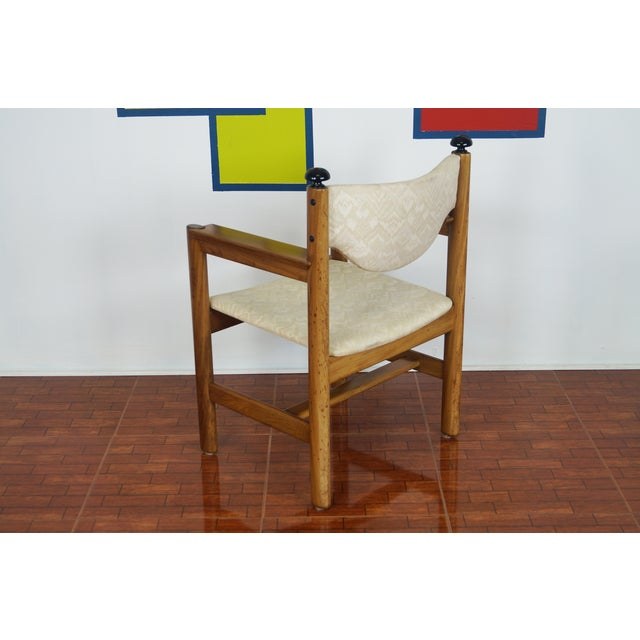 Image of Vintage Walnut Armchairs - A Pair