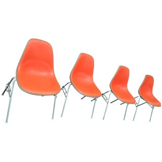 Eames Miller Vinyl Fiberglass Chair - Set of 4