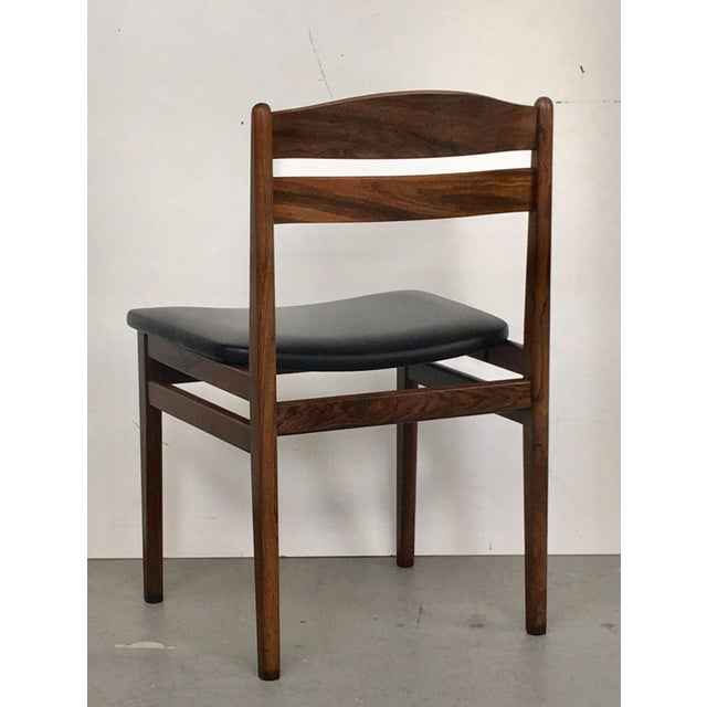 Danish Modern Rosewood Dining Chairs - Set of 6 - Image 7 of 8