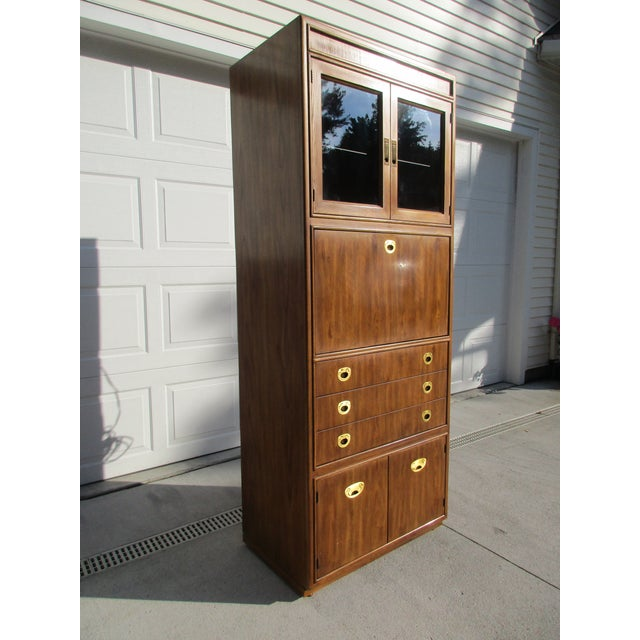 Drexel Heritage Campaign Style Bar Cabinet - Image 6 of 11