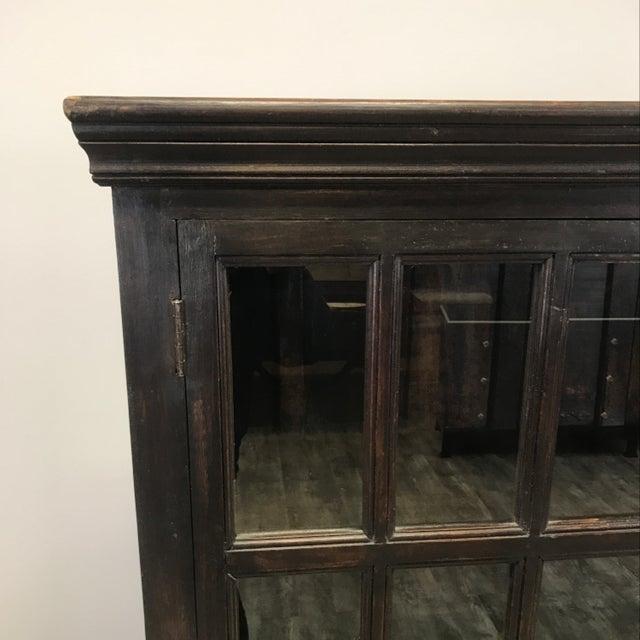 Crate Amp Barrel Wood Glass Door Wall Unit Chairish