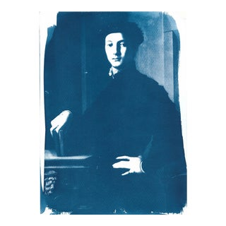 Portrait of a Young Man Cyanotype Print