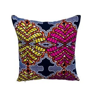 Kaleidoscope Blue African Ankara Pillows - A Pair
