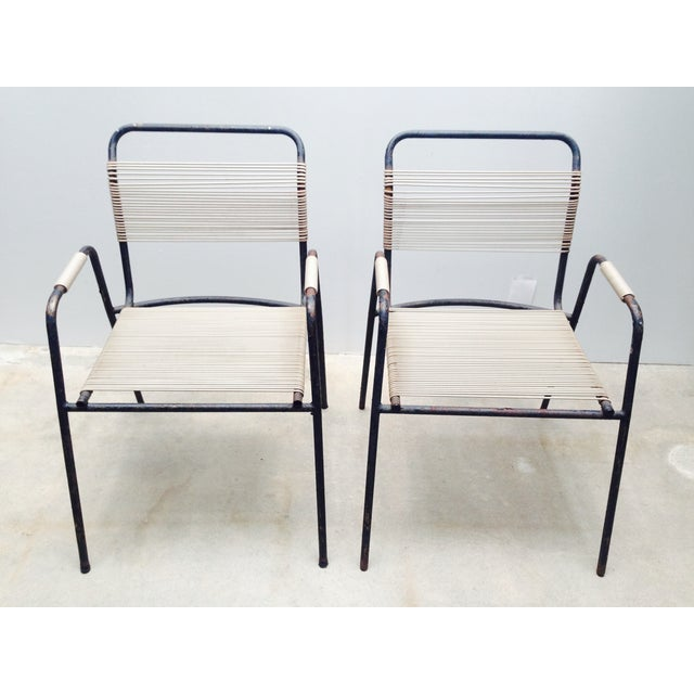 Rare Exterior Corded Ames Aire Arm Chairs - A Pair - Image 3 of 7