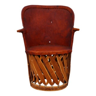 """Vintage Mexican Pigskin """"Equipale"""" Chair"""