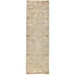 """Vibrance, Hand Knotted Beige Wool Runner Rug - 2' 6"""" X 8' 2"""""""