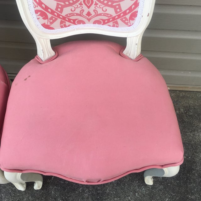 Vintage French Style Side Chairs - Set of 4 - Image 7 of 11
