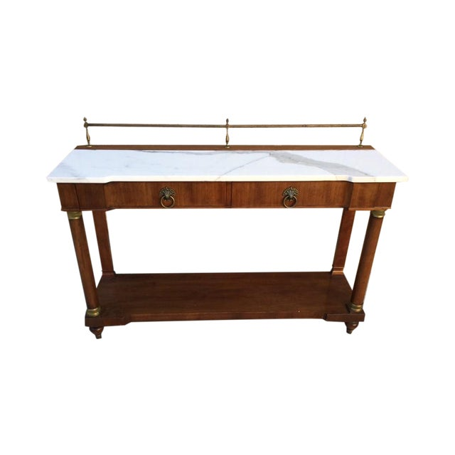 Image of John Widdicomb Entry Marble Table