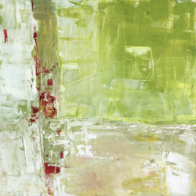 Paul Ashby Modern Abstract Green Oil Painting - Image 1 of 4