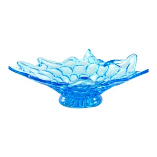 Mid-Century Aqua Stretch Bowl