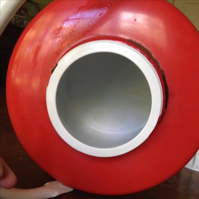 Vintage Red Metal & Plastic Coleman Cooler - Image 6 of 11