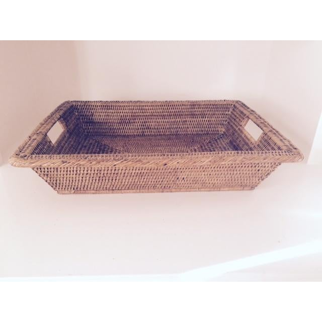 Image of Wicker Serving Tray