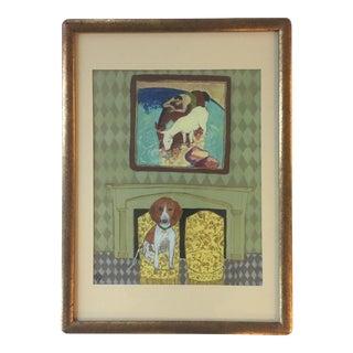 Judy Henn Hound Dog Print