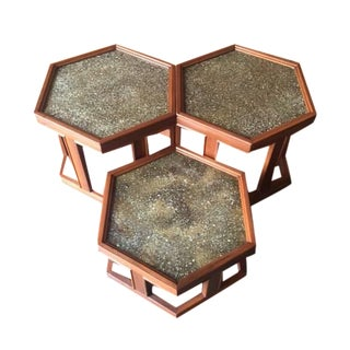 Mid-Century Side Tables by Brown Saltman - S/3
